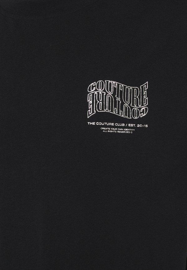 The Couture Club COUTURE WAVE PRINT - T-shirt z nadrukiem - black/czarny Odzież Męska UOJA