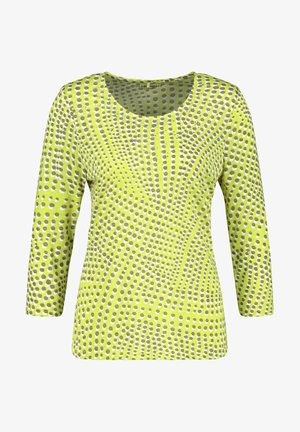 Long sleeved top - grün druck