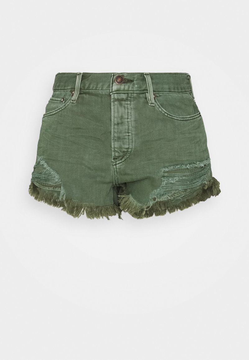 Free People - LOVING GOOD VIBRATIONS - Shorts di jeans - sage