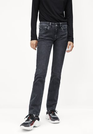 SATURN - Džíny Straight Fit - black denim