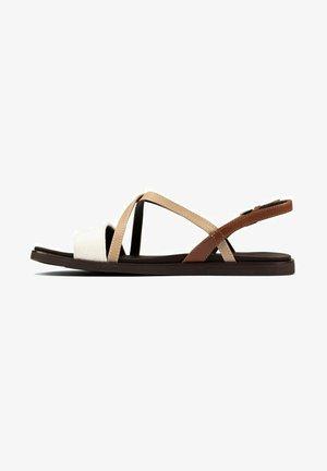 OFRA STRAP - Sandalias - taupe leather