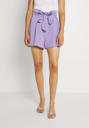PAPERBAG TIE WAIST - Shorts - lilac
