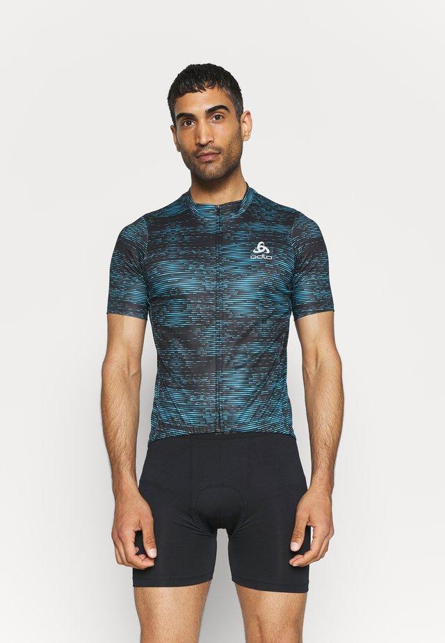 STAND UP COLLAR FULL ZIP  - T-shirt print - mykonos blue