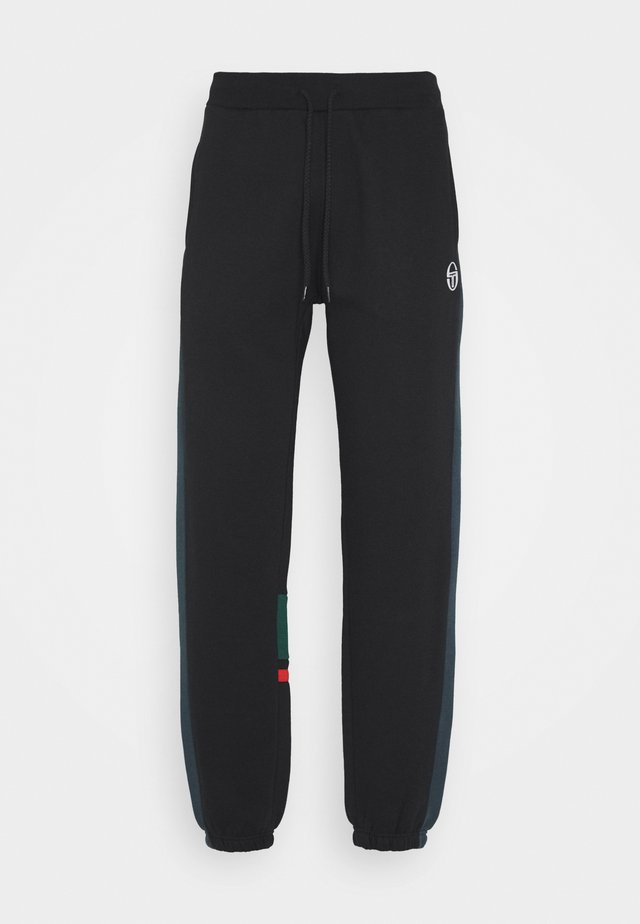 FIROZ PANTS - Tracksuit bottoms - black/botanical