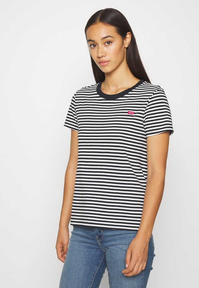 PERFECT TEE - T-shirt - bas - black/white