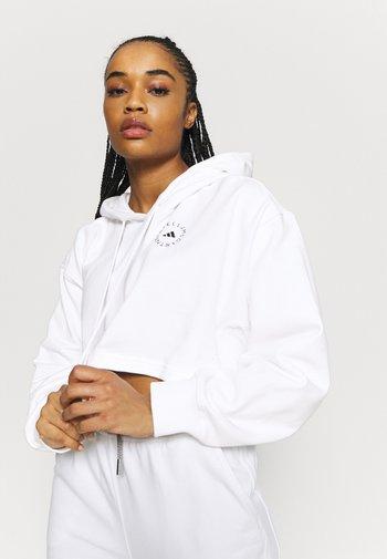 HOODIE - Long sleeved top - white