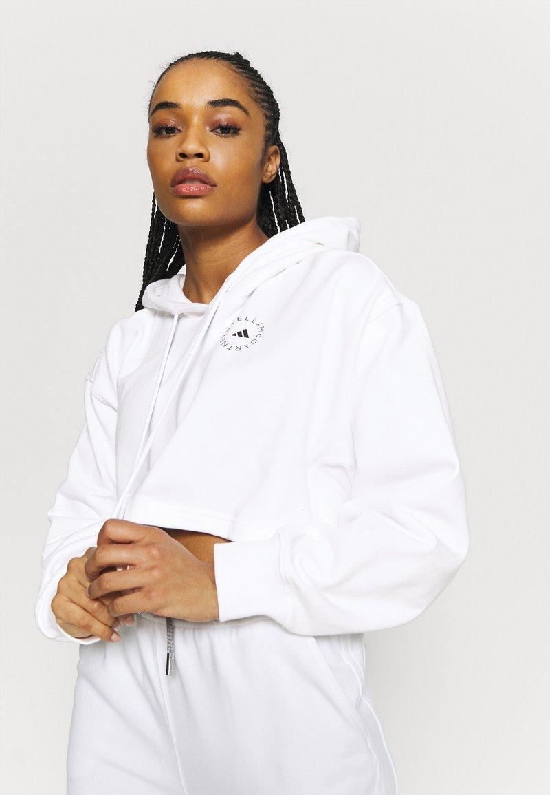 adidas by Stella McCartney - HOODIE - Long sleeved top - white