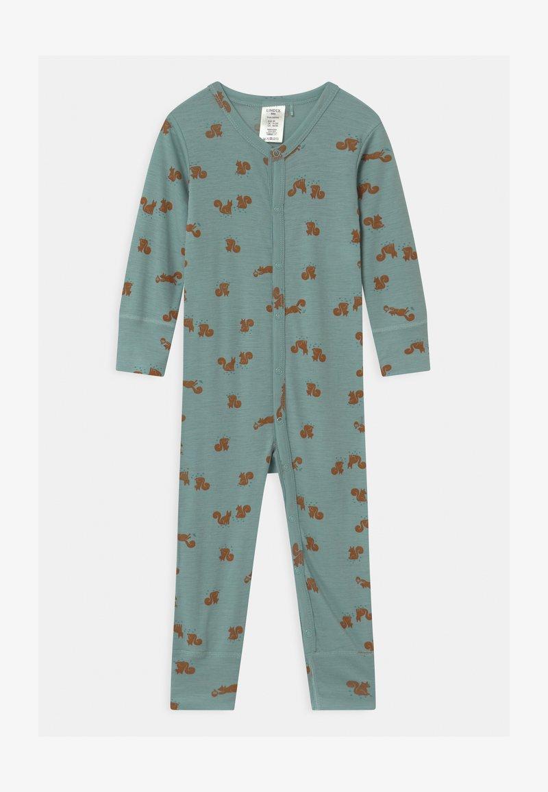 Lindex - ONESIES BABY SQUIRREL UNISEX - Pyjamas - light dusty aqua
