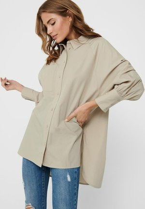 OVERSIZE - Button-down blouse - humus