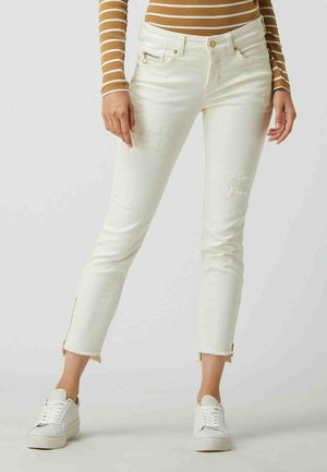 STRAIGHT FIT - Slim fit jeans - offwhite