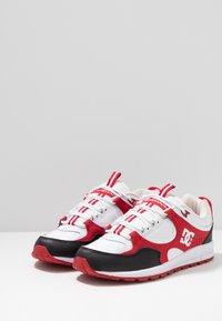 DC Shoes - KALIS LITE - Skate shoes - black/white/red - 2