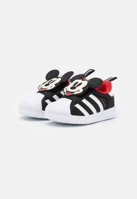adidas Originals - SUPERSTAR 360 UNISEX - Trainers - core black/footwear white/vivid red - 1