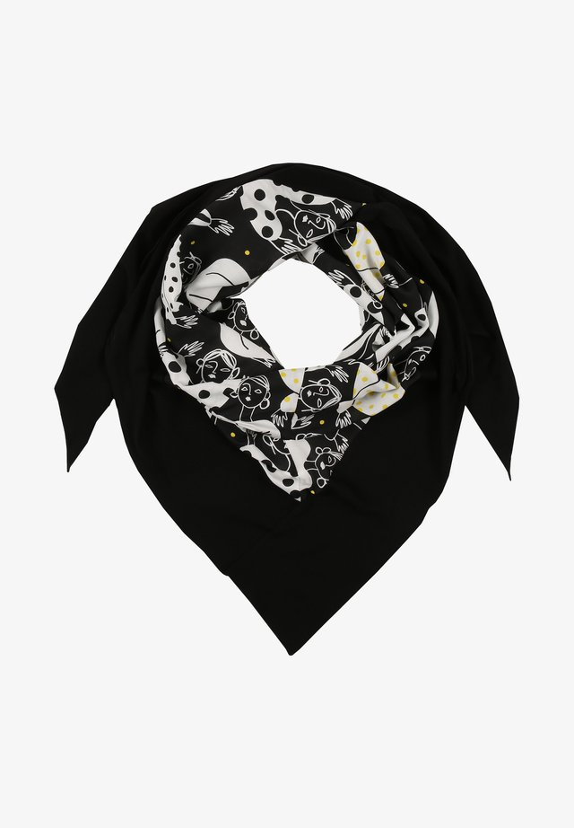 MIT ALLOVER-MUSTER - Scarf - anis