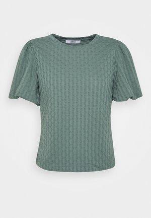 ONLRANDY PUFF SLEEVE - Print T-shirt - balsam green