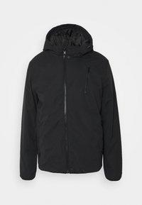 HOODED SPORTY ZIP JACKET - Zimní bunda - black