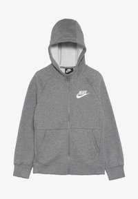 Nike Sportswear - FULL ZIP - Felpa aperta - carbon heather/white - 3