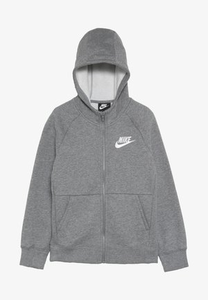 FULL ZIP - Zip-up hoodie - carbon heather/white