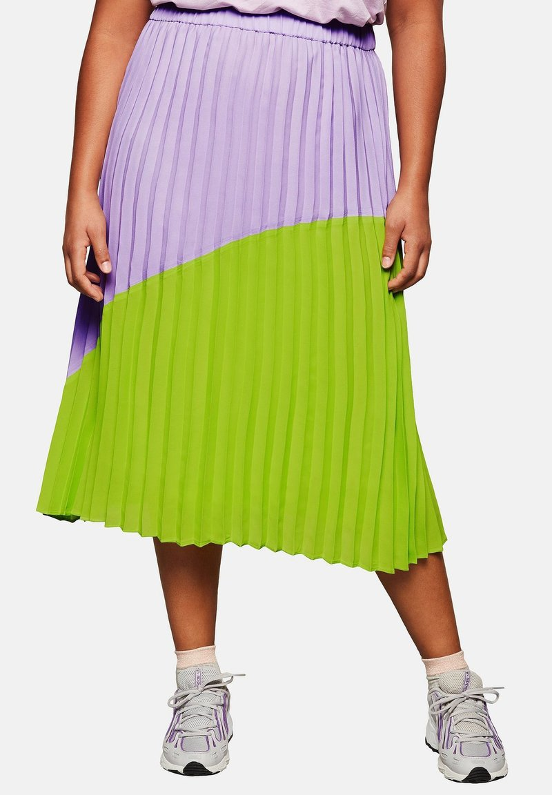 Sheego - A-line skirt - lime/lilac