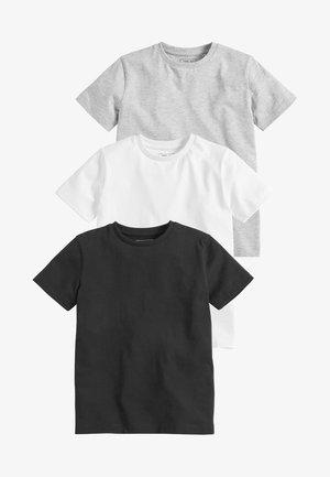 3 PACK - Jednoduché triko - white