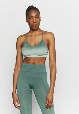 SEAMLESS OMBRE BRA - Light support sports bra - blue spruce