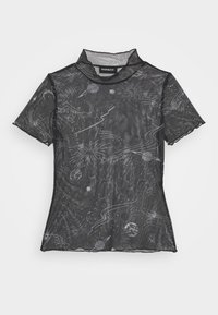 Even&Odd Petite - Print T-shirt - black/white - 4