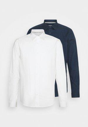 POPLIN SHIRT 2 PACK - Shirt - navy / off white