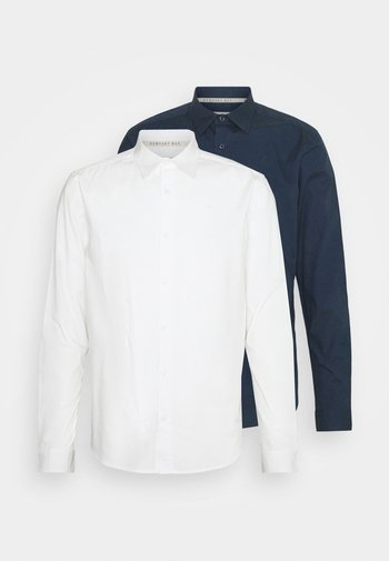 POPLIN SHIRT 2 PACK - Camisa - navy / off white
