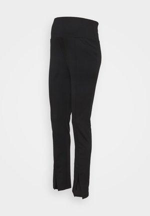 MATERNITY PONTE SPLIT - Leggings - Trousers - black