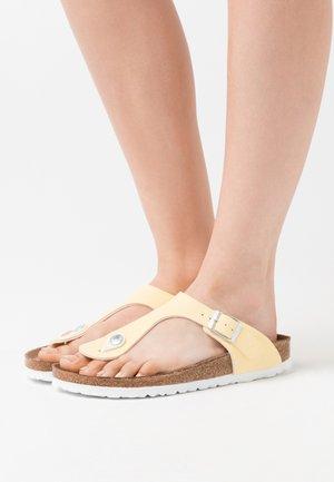 GIZEH VEGAN - T-bar sandals - vanilla