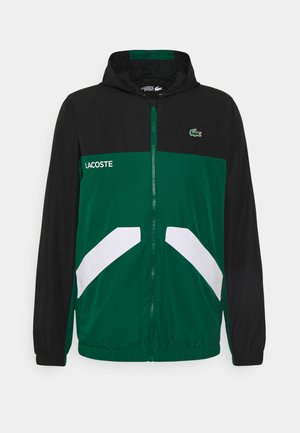 TRACK JACKET - Träningsjacka - black/bottle green/white