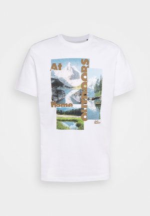 LAKE MORNING  - Print T-shirt - white rush