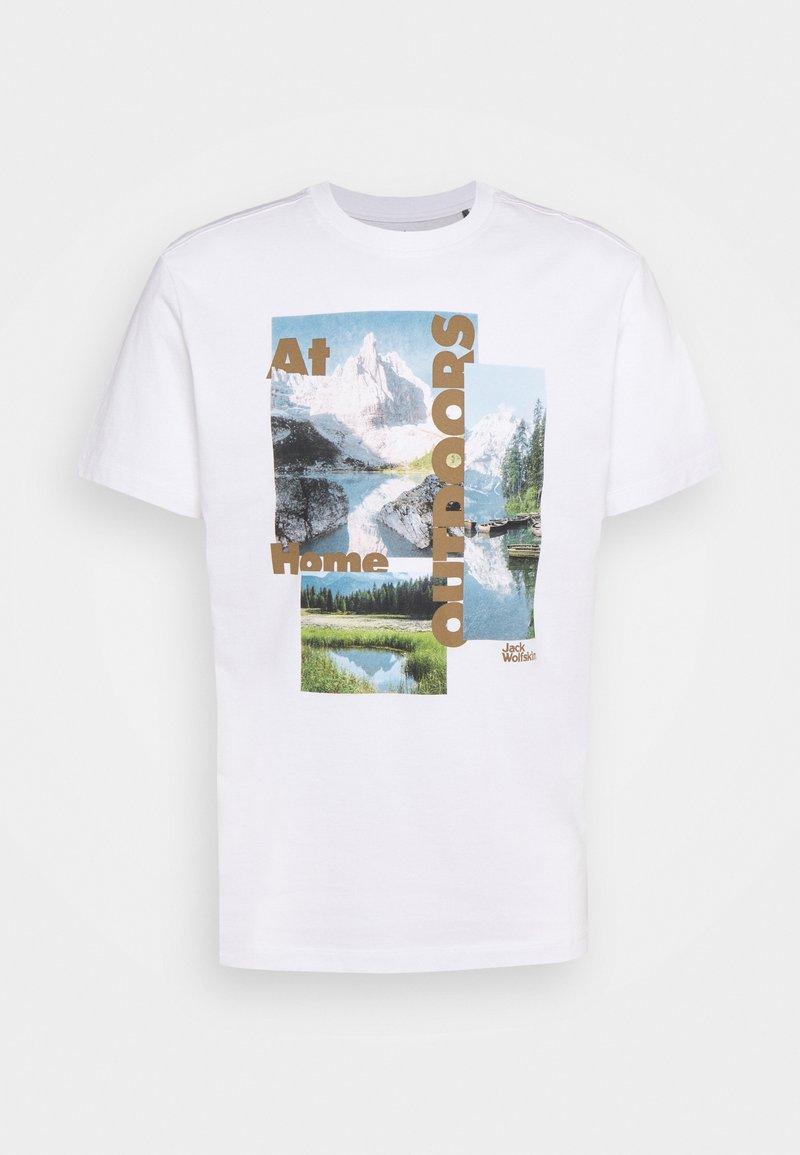 Jack Wolfskin - LAKE MORNING  - Print T-shirt - white rush
