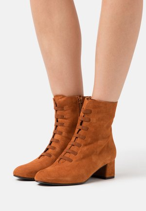 DIANBO - Lace-up ankle boots - brandy