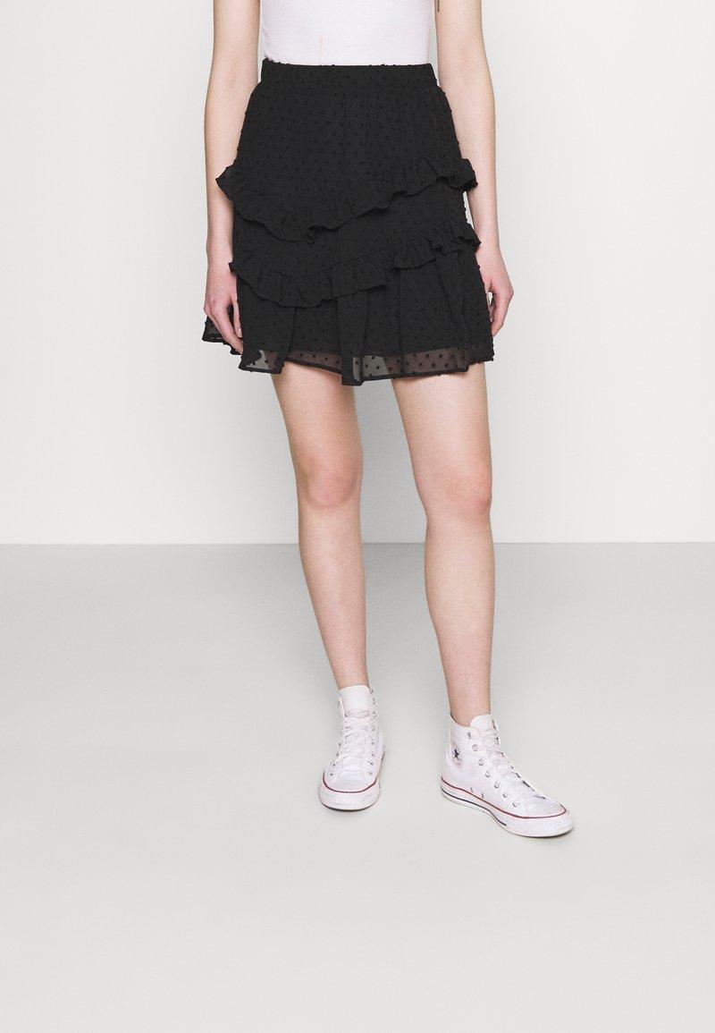 Trendyol - SIYAH - A-line skirt - black