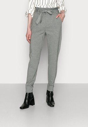 VMEVA PAPERBAG PANT - Trousers - medium grey melange