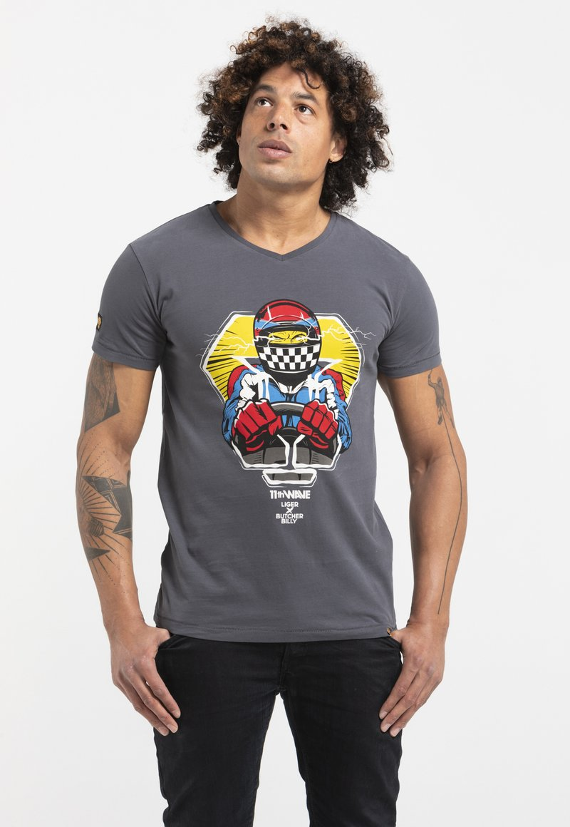 Liger - LIMITED TO 360 PIECES - BUTCHER BILLY - F1 - Print T-shirt - grey