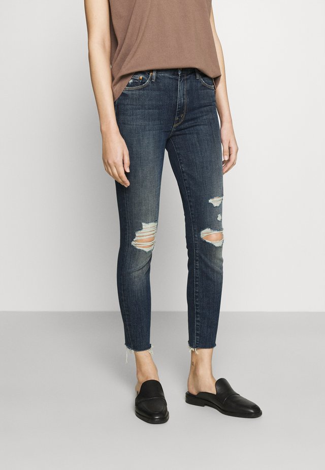 HIGH WAISTED LOOKER ANKLE FRAY - Skinny džíny - wicked wildflowers