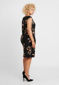 Lauren Ralph Lauren Woman - NOVELLINA CAP SLEEVE DAY DRESS - Jersey dress - black/pink/multi - 3