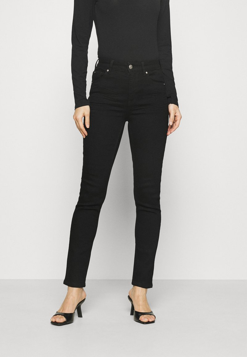 Marks & Spencer London - SLIM - Vaqueros slim fit - black