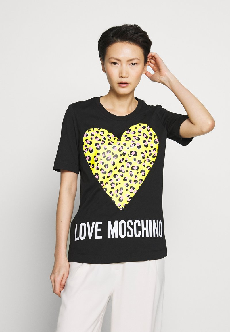 Love Moschino - T-shirt z nadrukiem - black