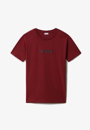 S BOX - Print T-shirt - vint amaranth