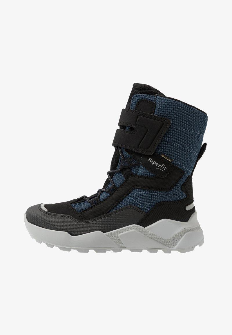Superfit - ROCKET - Winter boots - schwarz/blau