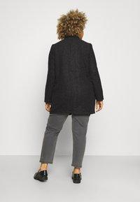 Vero Moda Curve - VMBRUSHEDKATRINE - Light jacket - dark grey melange - 2