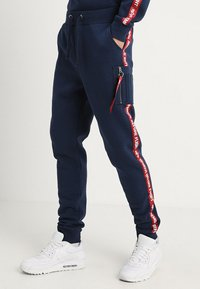 Alpha Industries - JOGGER TAPE - Tracksuit bottoms - new navy - 0