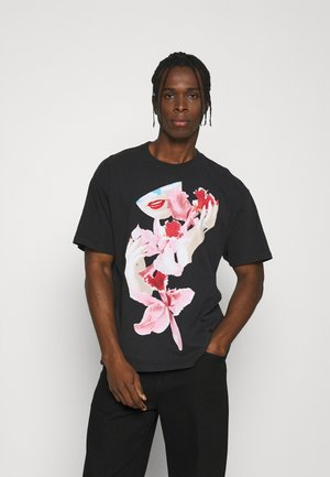 ORCHID - T-shirts med print - off black