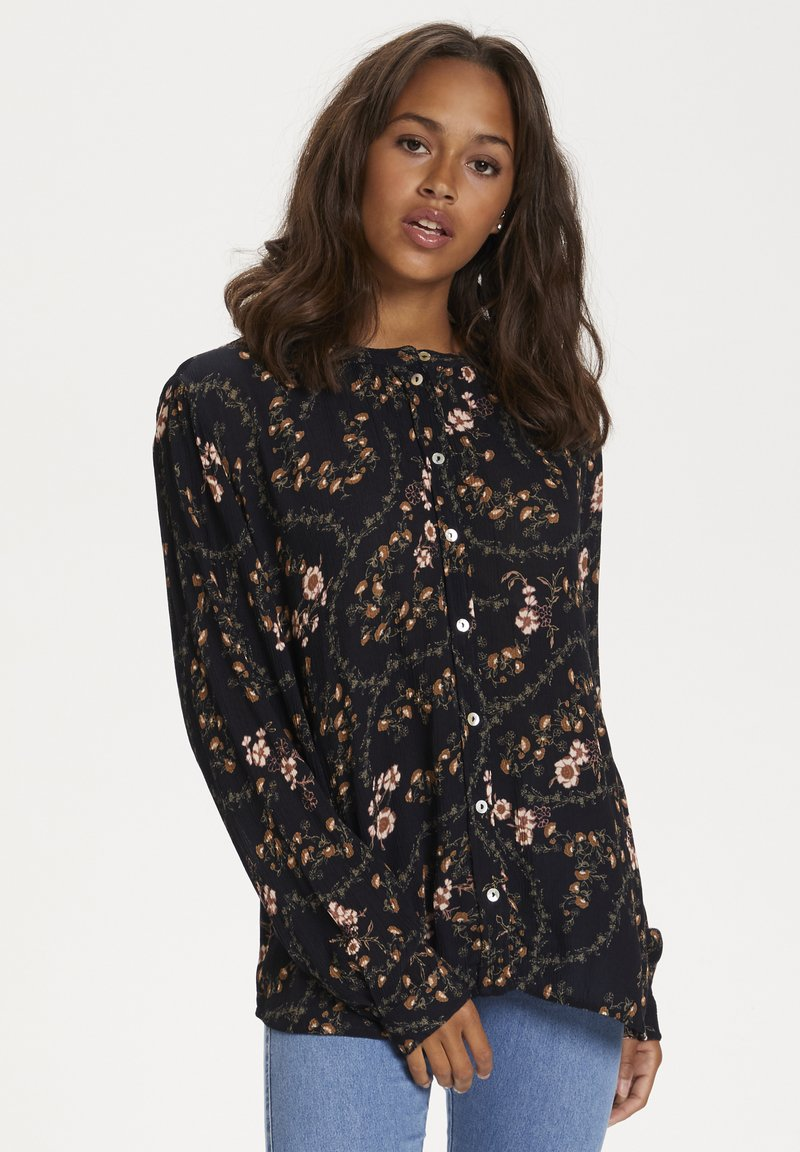 Kaffe - KAJUSTINA PPP - Bluser - black - brown flower print