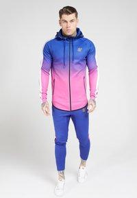 SIKSILK - Zip-up hoodie - blue neon fade - 1
