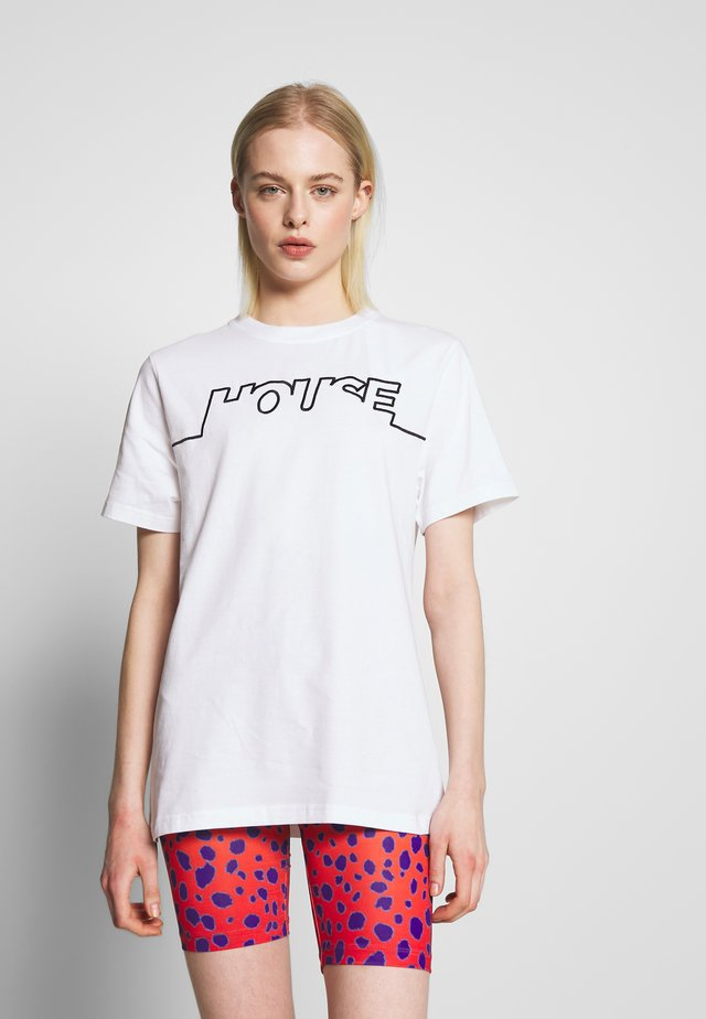 HOUSE TSHIRT - T-shirt imprimé - white