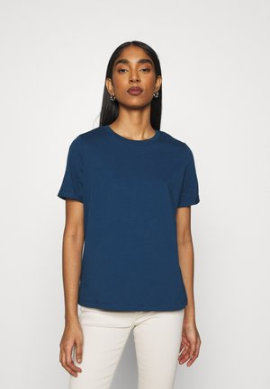 PCRIA FOLD UP SOLID TEE - Basic T-shirt - gibraltar sea