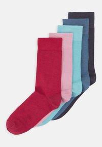 5 PACK - Ponožky - dark grey/red/blue